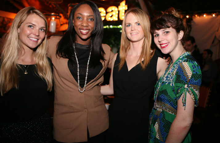 Jessica Matthews poses with her team from Unchartered Play.