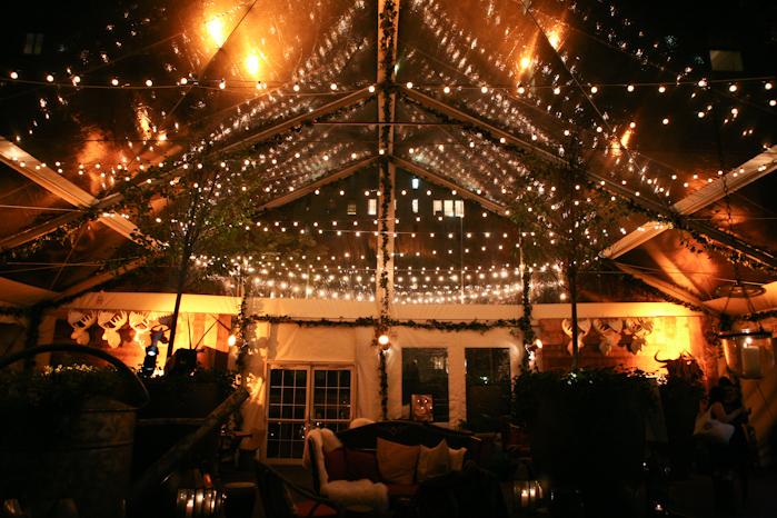 The event was held at Hudson Hotel's pop-up ski resort-themed bar, Hudson Lodge.